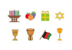 Icone vettoriali gratis Kwanzaa