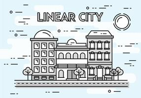 Sfondo vettoriale di paesaggio urbano lineare