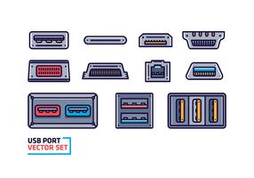 Usb Port Vector gratuito