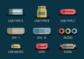 Icona porta USB vettore