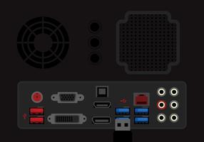Illustrazione di porta USB vettore