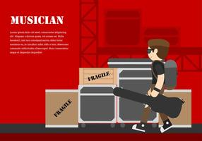 Musicista Backstage Free Vector