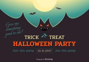 Manifesto di vettore di Halloween Bat Party