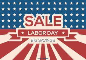Fondo di vendita del Labor Day vettore