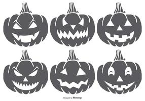 Zucche di Halloween spettrali di Dawn di mano