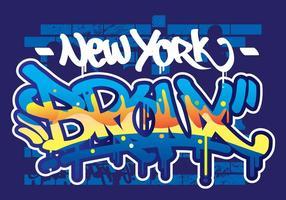 testo di graffiti bronx vettore