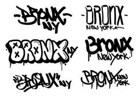 Bronx Graffiti Tagging vettore