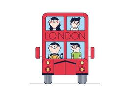 London Bus Vector gratuito