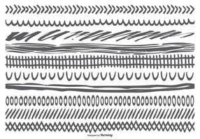 Collezione di bordi disegnati a mano abbozzati