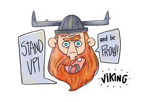 Vettore di Viking personaggio dei cartoni animati
