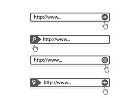 Vettore del motore di ricerca della barra degli indirizzi