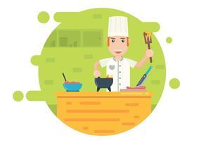 Illustrazione di attività di cucina vettore