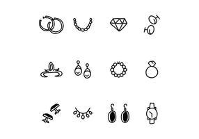 Set di gioielli per donne e uomini vettore