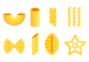 Set di icone di maccheroni vettore