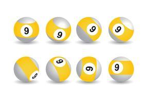 Raccolta di 9 palle vettoriali