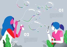 Illustrazione piana di vettore del fondo della bolla del ventilatore