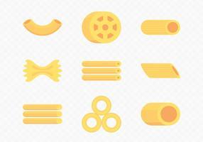 Icone di maccheroni a secco vettore