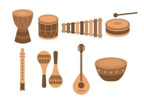 Strumento musicale etnico africano gratuito vettore