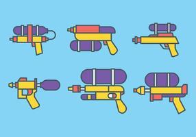 icone vettoriali di pistola ad acqua