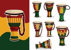 variazione del djembe reggae vettore