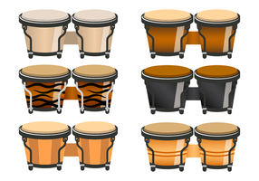 Vettore realistico del bongo