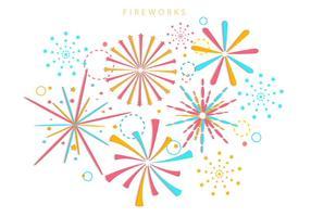 Insieme dei fuochi d'artificio nella priorità bassa bianca vettore