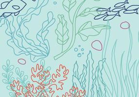 Vettore del fondo dell'oceano