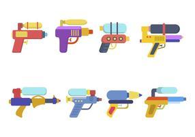 Vettori di pistola ad acqua piatta