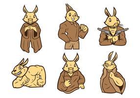Vettore della mascotte dello scoiattolo
