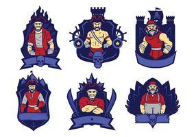 Vettore di logo di pirati