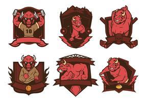 vettore di logo di bisonte