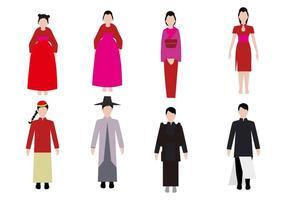 Vettore Mongol antico libero della gente