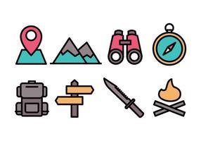 set di icone del campo