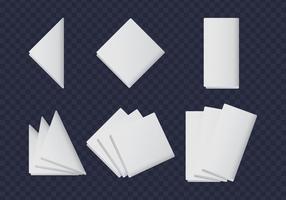 Collezioni di tovaglioli bianchi vettore