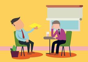 Paziente che parla con psicologo Vector Illustration