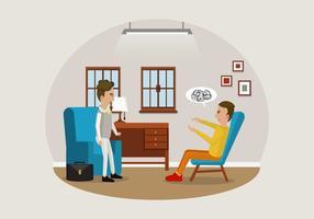 Vettore dell'illustrazione dello psicologo