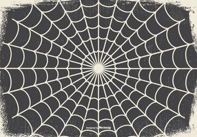 Vecchio Spooky Halloween Spider Web Background vettore