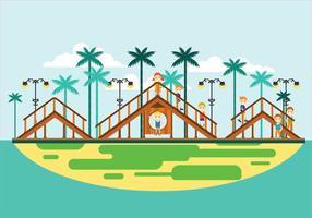 Attrezzature per parchi giochi all'aperto per bambini