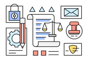 Illustrazioni di diritto lineare