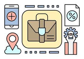 Icone di affari lineari gratuiti vettore