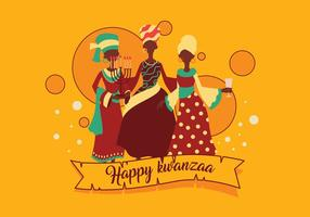 Vettore felice di Kwanzaa
