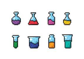 Vettori di pixel Beaker scienza