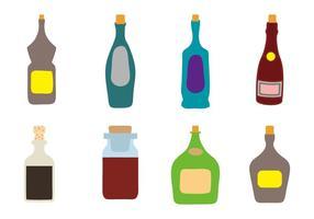 Bottiglia di oli aromatici con tappo vettoriale