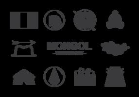 Mongolo icone vettoriali