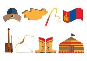 Icone mongole vettoriale
