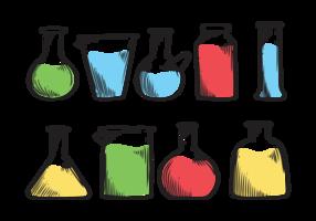 Beaker icone vettoriali