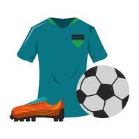cartoni animati del gioco di sport di calcio isolati