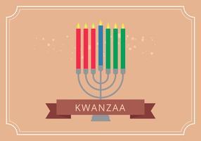 Vettore di saluti dell'illustrazione di Kwanzaa
