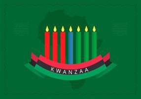 Priorità bassa di vettore di saluti dell'illustrazione di Kwanzaa
