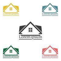 insieme di colori del modello di progettazione di logo di vettore del bene immobile.